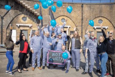 Jail and Bail captives celebrating freedom